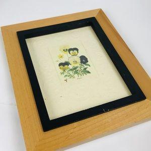 Vintage Floral Framed Art 5X7